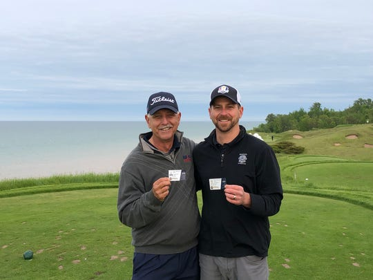 Jack and Mike  Aschenbach are second cousins who both happen to love golf. They connected for the first time on Facebook and they recently brought some junior golfers from Florida up to Sheboygan to compete in a Junior Ryder Cup.