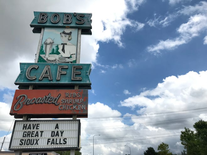 The recognizable Bob's Cafe sign was sold, along with the former cafe building, to new owner Dale Dachtler of Tea.