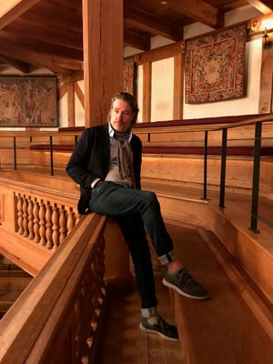 American Shakespeare Center's Artistic Director Ethan McSweeny sits on the balcony of Blackfriars Playhouse on Wednesday, June 19, 2019. McSweeny announced his departure from ASC in February 2021.