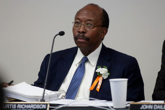 Mayor Pro Tem Curtis Richardson at the City Commission meeting held at the Smith-Williams Service Center Wednesday, June 19, 2019.