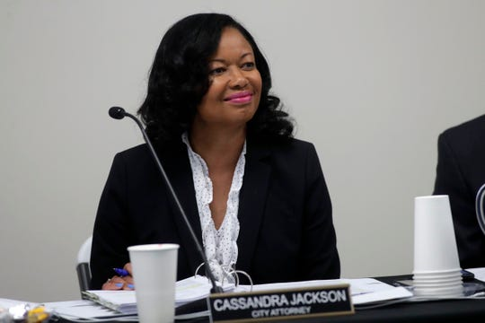 City Attorney Cassandra Jackson at the City Commission meeting held at the Smith-Williams Service Center Wednesday, June 19, 2019.
