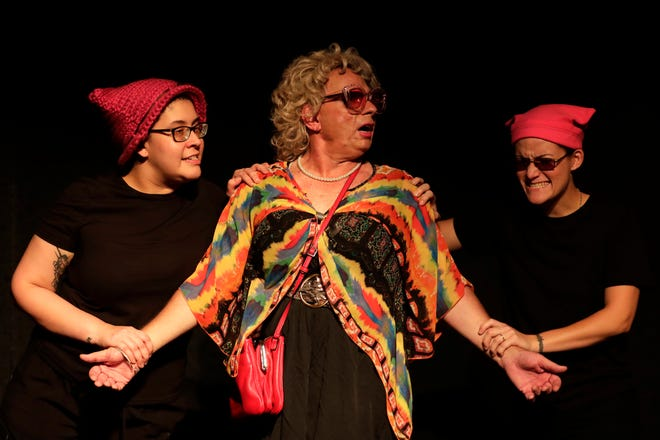 """The Mickee Faust Club holds a dress rehearsal for its """"Queer as Faust"""" cabaret  Wednesday June 19, 2019. The company writes all the material which runs the gamut of silly to sexy to anthems of pride. Some skits might be better for more mature audiences."""