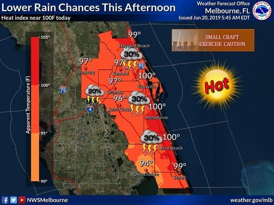 Forecast for June 20, 2109