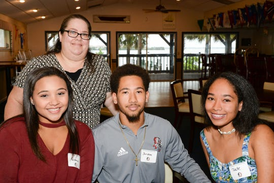 Giana Dawkins, left, Jaime Ferguson, incoming Florida State University freshman Jordan Ferguson and Jade Ferguson at the Treasure Coast Seminole Club's Sendoff at the Fort Pierce Yacht Club.