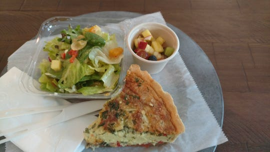 Served as an $8.95 Sun Market Sauce Co. pairing, the quiche of the day was right out of the oven and the citrus salad was fresh and crunchy.