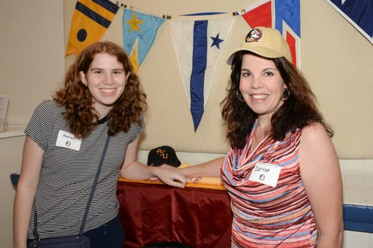 New Seminole Marissa, left, with mom Denise Caulkins, at the Treasure Coast Seminole Club's Sendoff at the Fort Pierce Yacht Club.