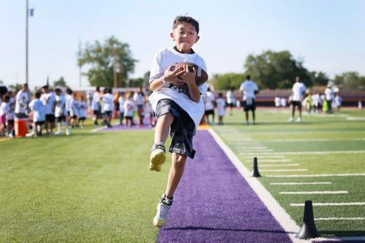 Jones Brothers Youth Football Skills Camp thrills kids at
