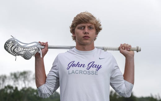 John Jay High School's Bryce Ford is named boys lacrosse player of the year.  Ford was photographed at John Jay High School in Cross River on Thursday, June 20, 2019.