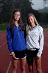 Twins Sarah and Lily Flynn of Ursuline, photographed June 20, 2019, are the co-winners of The Journal News/lohud girls Westchester/Putnam outdoor track & field athlete of the year award.