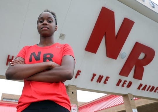 North Rockland's Nadia Saunders who was photographed on June 19, 2019 is the Rockland girls track & field outdoor athlete of the year.