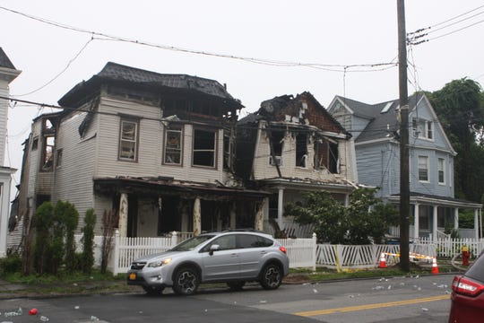 A fire wrecked two houses on Warburton Avenue in Yonkers on June 19, 2019.