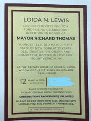 Invitation to a fundraiser for the Richard Thomas Legal Defense Fund