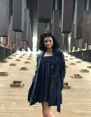 Savannah Shepherd at the National Memorial on Peace and Justice and the Legacy Museum in Montgomery, AL.