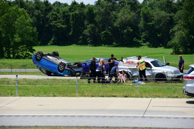 A crash on Del. 1 involving multiple cars has caused traffic delays Thursday afternoon.