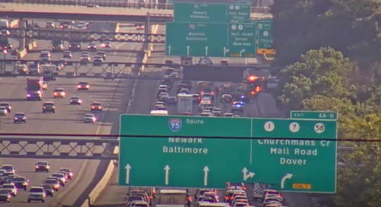 A crash Thursday evening has closed the right two lanes on I-95 south prior to the Churchmans Crossing exit.