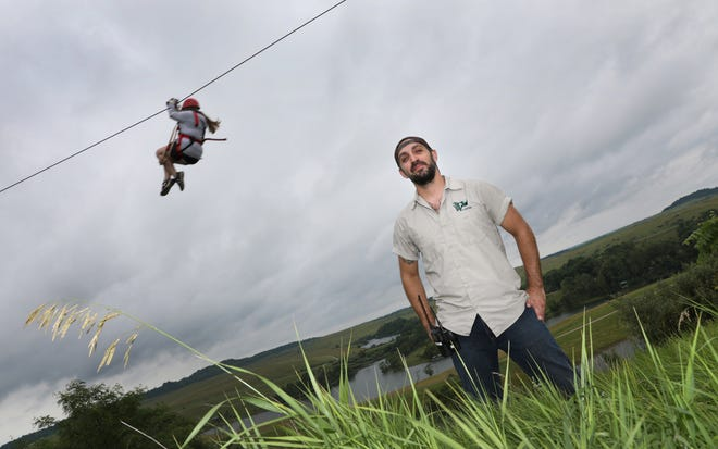 Eric Lapchenko is the zipline manager at the Wilds. The course offers unique views of the 10,000 acre conservation site in eastern Muskingum County.