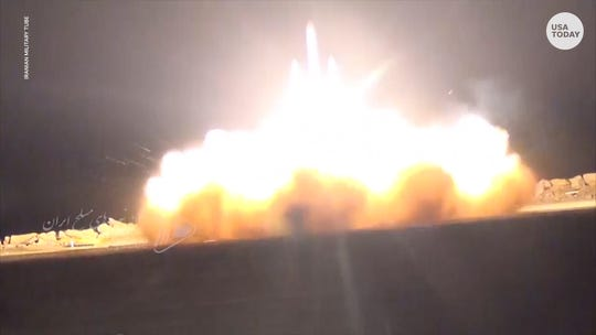 A video was published by Iran military depicting the June 20 shoot down of an U.S. drone in Iranian airspace.