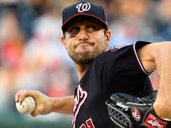 Max Scherzer, broken nose and all, pitches Nationals to sweep of Phillies