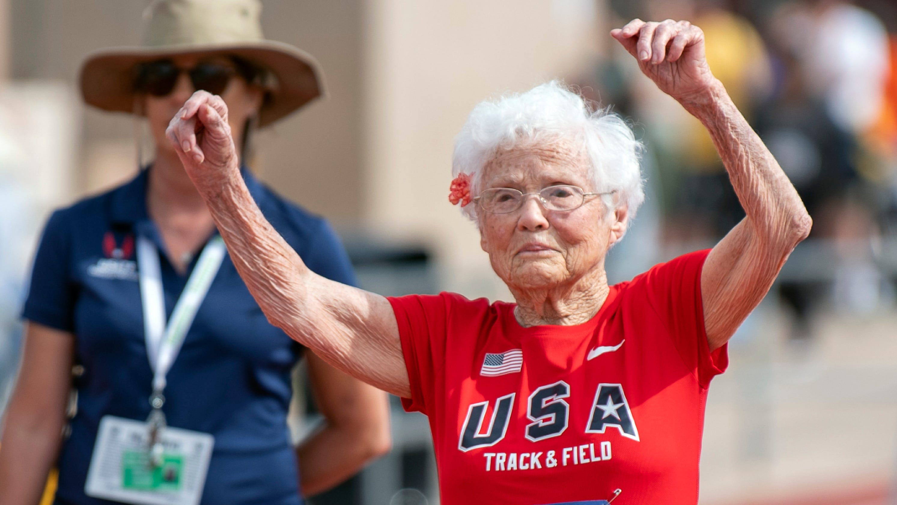 Julia Hawkins, 103-year-old sprinter, makes her mark on the