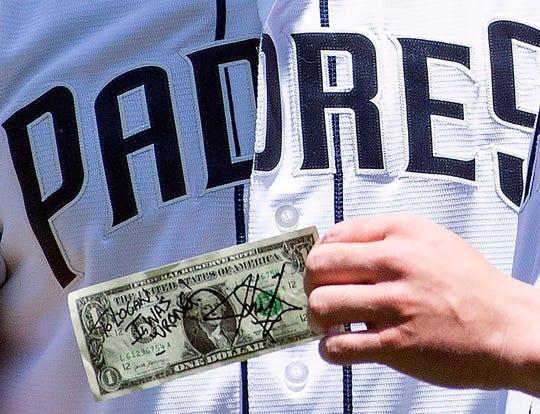 John Cena pays off $1 bet after Padres prospect Logan Allen makes MLB debut