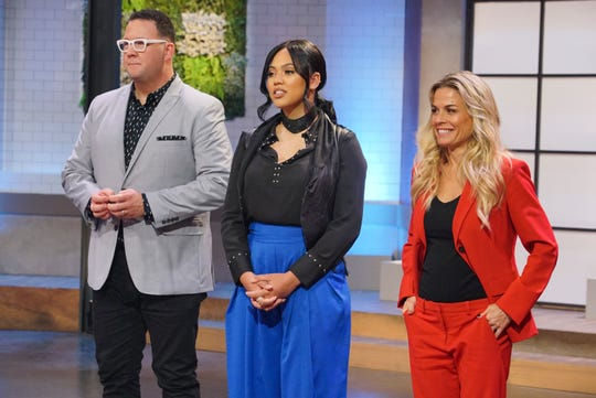 Stephen Curry's wife, Ayesha Curry, center, serves as executive producer, host and judge on ABC's 'Family Food Fight,' which follows Stephen Curry's 'Holey Moley' on Thursdays this summer. Graham Elliot, left, and Cat Cora, right, complete the judging panel.