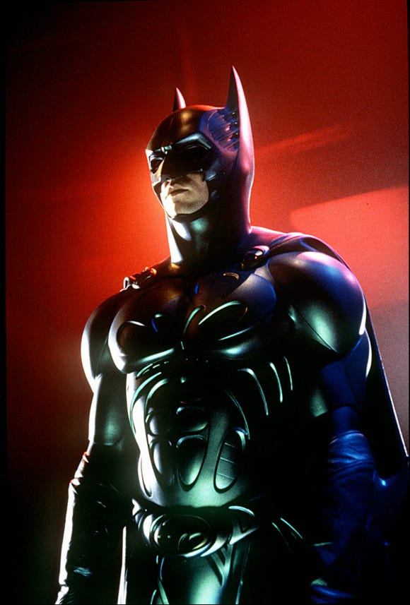 "Val Kilmer definitely had the right chin for the Caped Crusader of ""Batman Forever."""