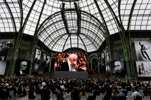 "The ""Karl For Ever"" event at the Grand Palais in Paris honored German fashion designer Karl Lagerfeld, who died Feb. 19."