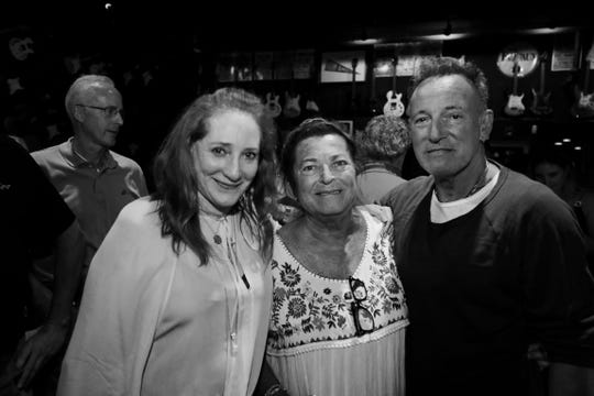 Patti Scialfa, Pam DeLisa and Bruce Springsteen at the Stone Pony in Asbury Park on June 20, 2019.