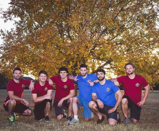 Blaise, Kilian, Graeme, Justin, Trent and Austin Regan as the Six Brothers.