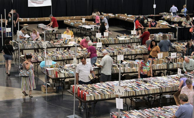 You never know what you'll or who you'll see at the Friends of the Abilene Public Library book sale, which this year raised almost $60,000.