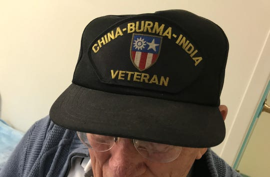 Walter Mach has saved the hat he received as a veteran of World War II, serving in the CBI Theater.