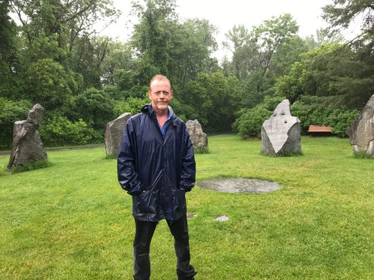David Brizendine, former president of the now-defunct Circles for Peace, stands at the Burlington Earth Clock, a site implemented by the group in Oakledge Park. June 20, 2019.