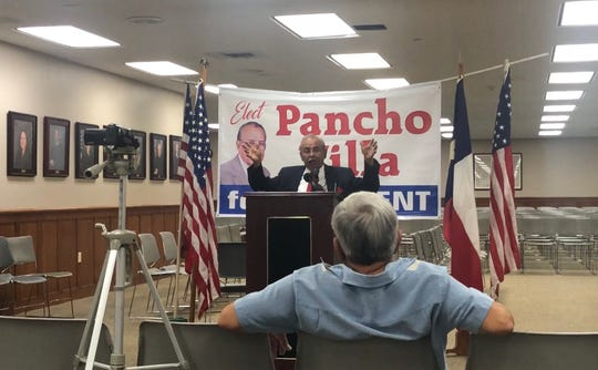 Ray Madrigal de Pancho Villa announces his candidacy to become the President of the United States Friday, June 21, 2019.