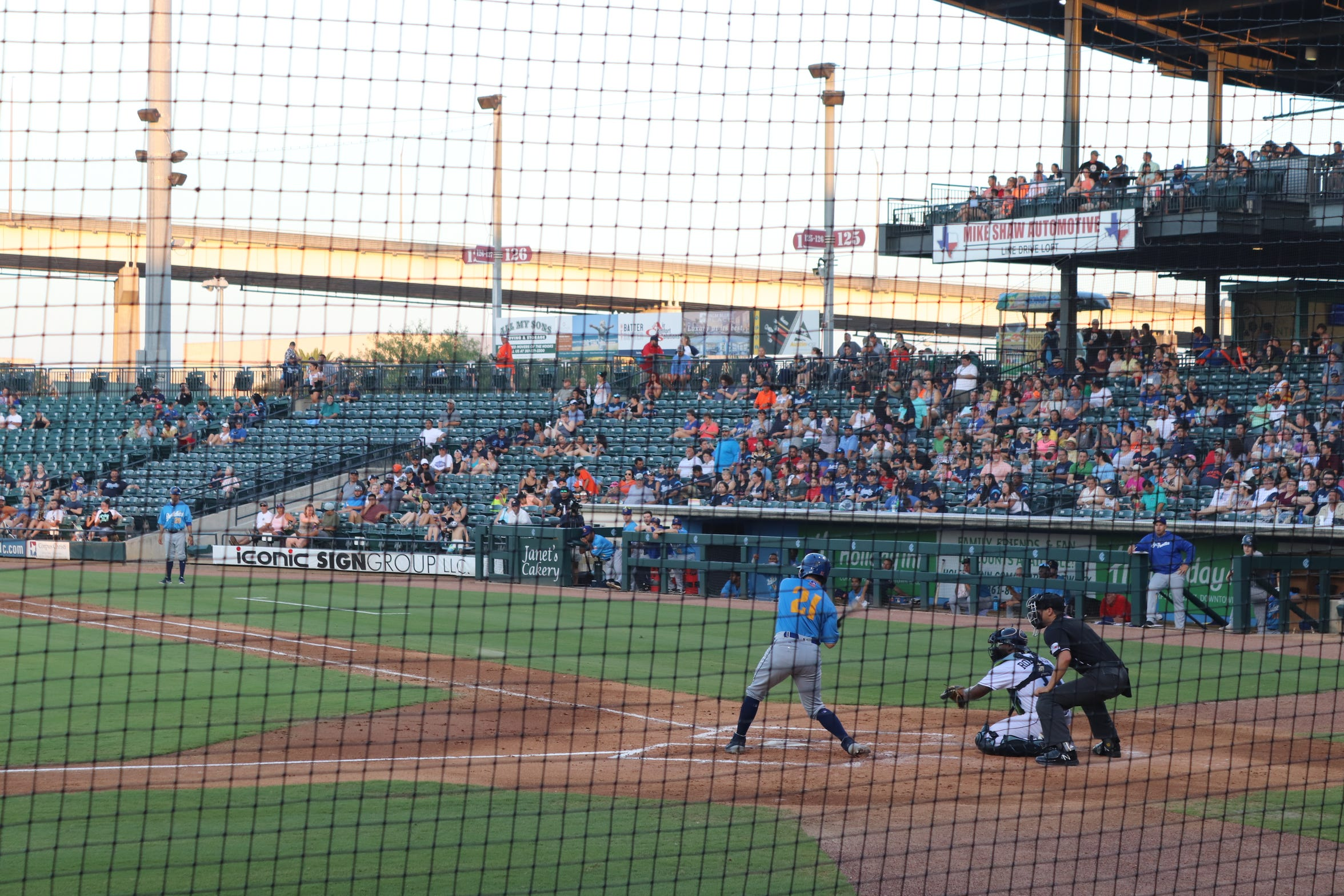 Pavel Alekseev, a journalist from Russia, took in his first baseball game in Corpus Christi, Texas.