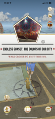 "The Endless Sunset: Colors of Our City mural on the Caller-Times building in downtown Corpus Christi acts as an inn in ""Harry Potter: Wizards Unite"" AR mobile game."