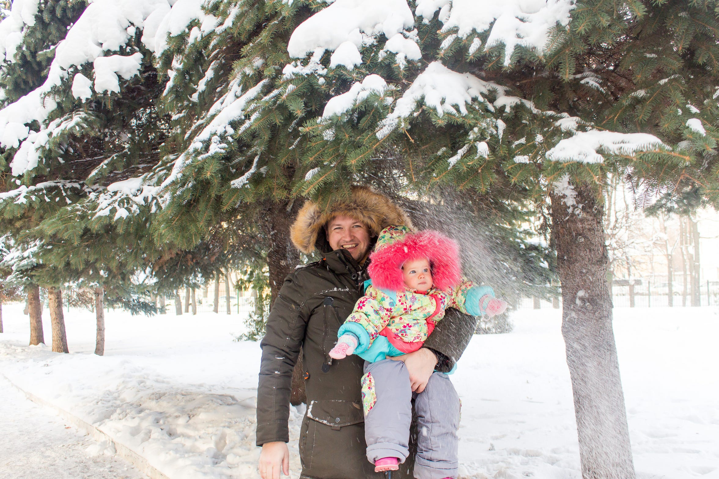 Pavel Alekseev with his daughter Maria in Russia.