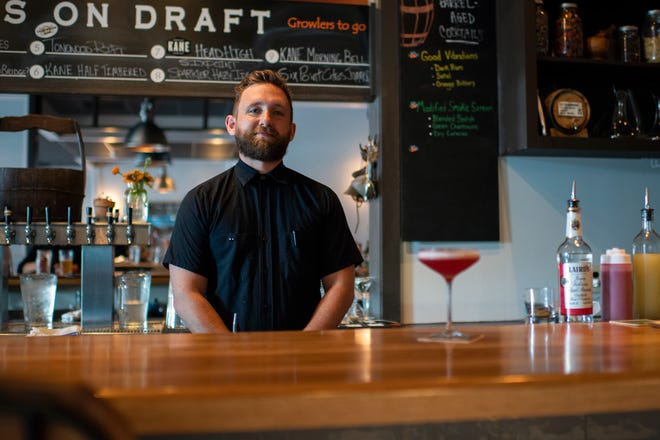 Mixologist Danny Childs of The Farm & Fisherman Tavern in Cherry Hill, N.J. Thursday, June 20, 2019.