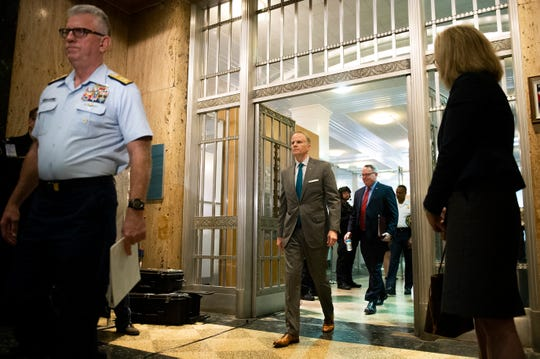 U.S. Attorney William M. McSwain walks into the U.S. Custom House as a press conference is held outlining details of a historic Port of Philly cocaine bust Friday, June 21, 2019 in Philadelphia, Pa. Over a billion dollars worth of cocaine was seized from containers aboard the MSC Gayane.