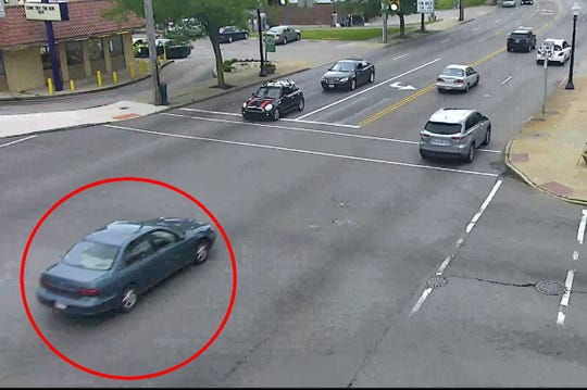 Police are searching for this vehicle in connection with the killing of Brandon Phoenix in Mount Airy.