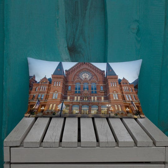 Cincinnati Music Hall Premium Pillow, $35