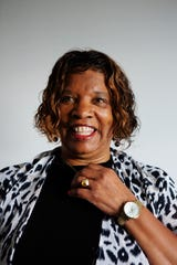 Gwen McFarlin, chair of the Hamilton County Democratic Party, poses for a portrait at the democratic headquarters in Pleasant Ridge on Friday, June 21, 2019.