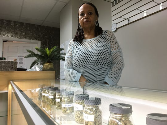 Christina Montague is a retired social worker and Ann Arbor resident who is one of the few minority owners of a medical marijuana business - the Huron View dispensary in Ann Arbor.