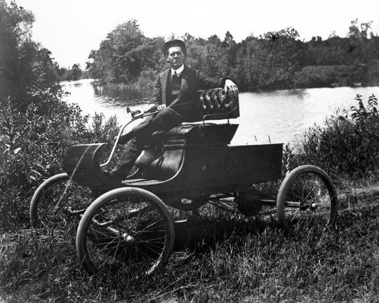 Matthew Anderson, curator of Transportation at The Henry Ford, says the 1901 Oldsmobile Curved Dash could be considered the first entry-level car because its $650 price was a fraction of the $1,500 Packard.
