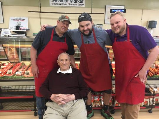 From left to right: Joyview owner Greg Przesmycki, Richard Przesmycki, Spencer Przesmycki and Brad Przesmycki. The meat market has been in the family since 1969.