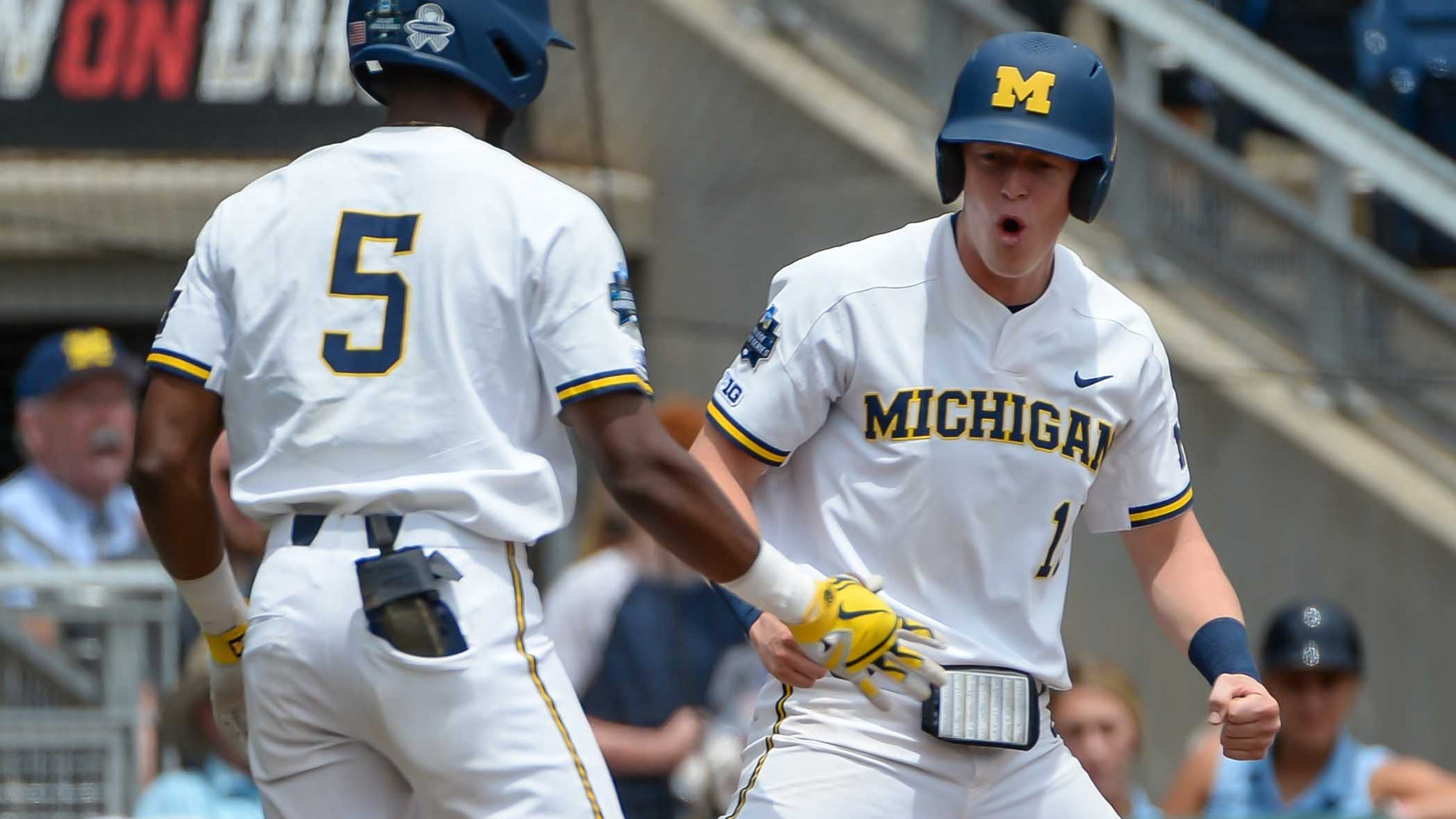 Michigan Baseball Stomps Texas Tech Advances To Cws Finals