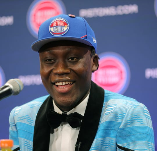 Pistons introduce Sekou Doumbouya on Friday.