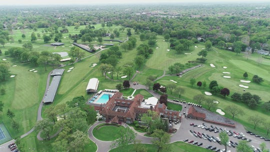 Aerial views before the Rocket Mortgage Classic at the Detroit Golf Club in Detroit Friday, May 24, 2019.