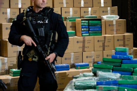 Federal officials have estimated the seized drugs had a street value of more than $1 billion.