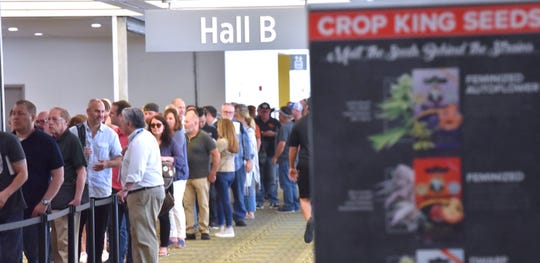 Patrons, vendors and industry experts attend CannaCon Midwest '19, a cannabis business expo, Friday, June 21, 2019. The expo runs Friday and Saturday from 10am to 5pm in Hall B at Cobo Center.