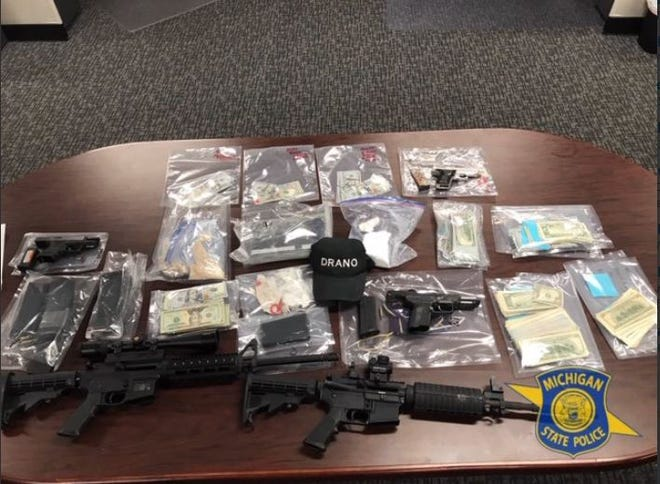 Evidence seized from locations in Southfield, Taylor and Detroit.